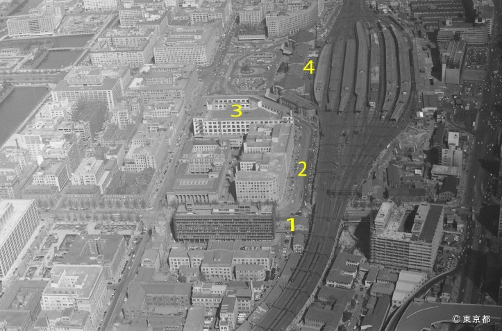 Tokyo Station Area 1962